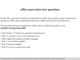 Office Nurse Resume Office Nurse Interview Questions