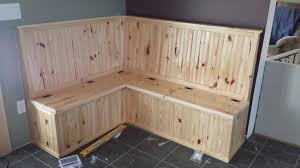 diy open seat bench breakfast nook knotty pine mudroom table with