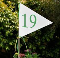 Golf Tournament Flags Golf Flag For The 19th Hole Centerpiece
