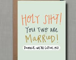 Funny Wedding Wishes Cards Congrats Wedding Etsy