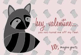 free printable raccoon valentines imagine gnats