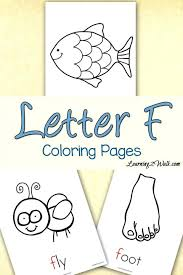 letter fox coloring page free printable pages alphabet printables