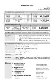 Sample Resume For Ca Articleship Training Resume Format For Ca Articleship Resume Ideas