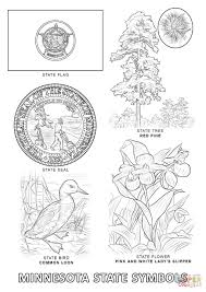 minnesota state symbols coloring page free printable coloring pages