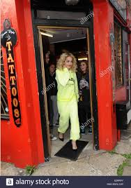 rita ora visits flamin eight tattoo studio in camden and gets a