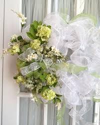 white deco mesh wedding mesh wreath deco mesh wedding wreath moss green white by