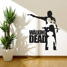 popular banksy wall vinyl buy cheap banksy wall vinyl lots from walking dead wall art decals vinyl moive poster removable banksy wall stickers for living room home