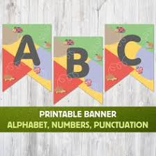 printable alphabet bunting banner alphabet banner flags birthday banner printable baby shower banner