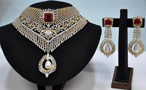 designer diamond sets buy diamond necklace set from panna creation pvt ltd kolkata
