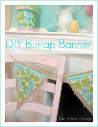 spring mantel burlap banner u0026 fabric flowers fox hollow cottage