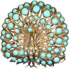 peacock turquoise 207 best brooches of peacocks images on peacocks