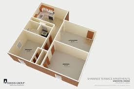 v a floor plan shawnee terrace apartments aikens group