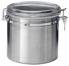 airtight canister stainless steel 52 oz by oggi contemporary