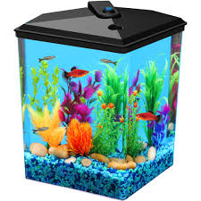 aqua culture 1 5 gallon gumball aquarium led lighting 9