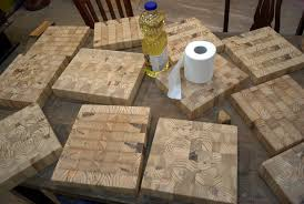 Diy End Grain End Table Side Project End Grain Cutting Boards The Jarboe Initiative