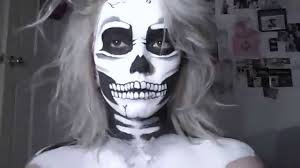 Skeleton Face Painting For Halloween by Skeleton Makeup Tutorial Youtube