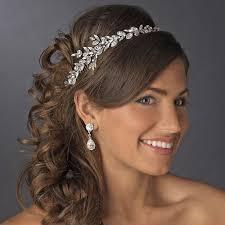 wedding hair accessories uk silver clear marquise cut rhinestone headpiece 17967