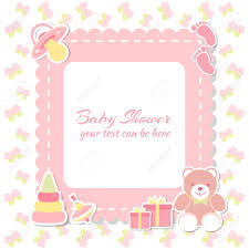 Greeting Cards For Invitation Baby Shower Invitation Card Place For Text Greeting