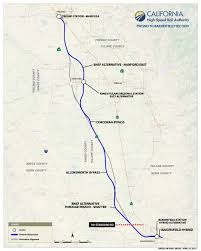 california high speed rail map fresno to bakersfield project section statewide rail