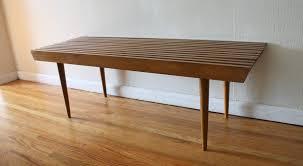 Diy Mid Century Modern Coffee Table Mid Century Modern Slatted Coffee Table Bench Picked Vintage