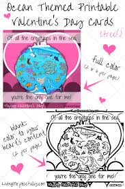ocean themed printable valentine u0027s day cards free u2013 living