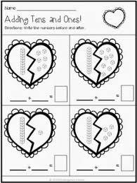 print and go valentine math and literacy no prep valentine