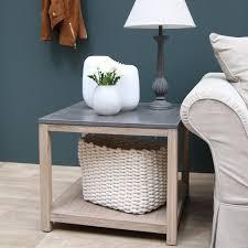 plateau de canapé bout de canapé plateau béton gris interior s