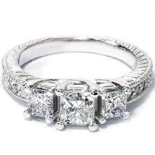 princess cut 3 engagement rings 1 75ct princess cut 3 vintage antique style