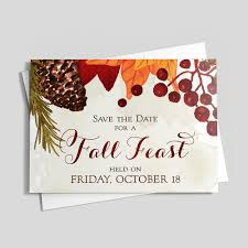 thanksgiving feast save the date by cardsdirect