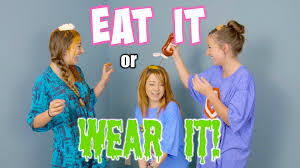 Challenge How Do You Do It Us Do The Eat It Or Wear It Challenge With Our Friend