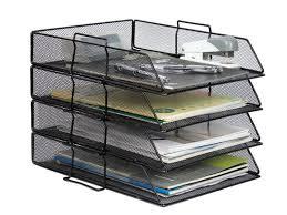 desk organiser file tray storage rack 4 tier