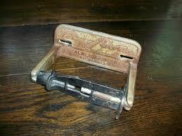 standing vintageilet paper holder carlotta iron shabby chic