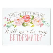 bridesmaids invitation will you be my bridesmaid bridesmaid card zazzle