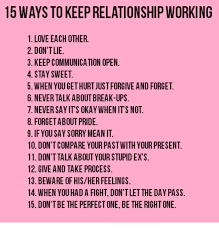 Relationship Memes Facebook - 15 ways to keep relationship working 1 love each other 2 don t lie 3