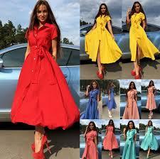 plus size fashion women short sleeved summer casual shirt dress
