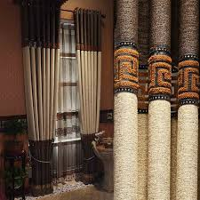 Custom Linen Curtains Custom Made Luxury Greek Key Linen Curtains With Tassels