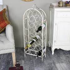metal wine rack table tall antique white metal wine rack melody maison