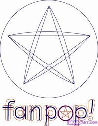 how to draw fanpop logo and letters step by step symbols pop