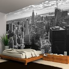 new york wall murals for bedrooms wall decoration ideas new york city skyline black white photo wallpaper wall mural new york city skyline black white photo wallpaper wall mural 335x236cm huge