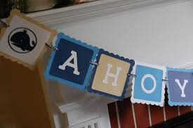 ahoy its a boy banner nautical baby shower whale banner