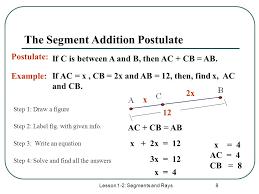 worksheet segment addition postulate worksheet caytailoc free