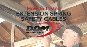 replace spring on garage door how to install extension spring safety cables youtube
