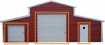 Barn Garage Doors Barn Door Options For Your New Outdoor Building Barns Com