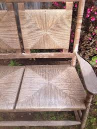 rare vintage outdoor patio porch wooden double rocking chair