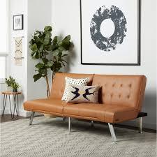 Overstock Sofa Bed Abbyson Jackson Camel Leather Foldable Futon Sofa Bed Free