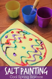 cool science spring salt painting spring easter and craft