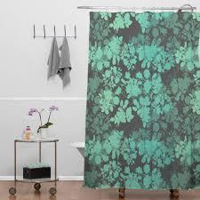 Threshold Medallion Shower Curtain by Cynthia Rowley Paisley Floral Medallion Blue Teal Grey Nicole