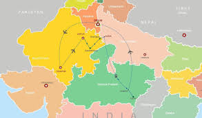 Agra India Map by Rajasthan And North India Wildlife Tour India Tourism