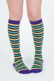 mardi gras socks mardi gras diagonal striped cotton knee socks mardi gras