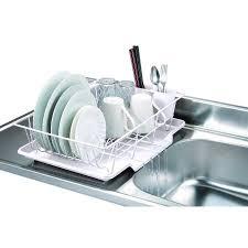 kitchen sink drainer home basics 3 piece kitchen sink dish drainer set various colors